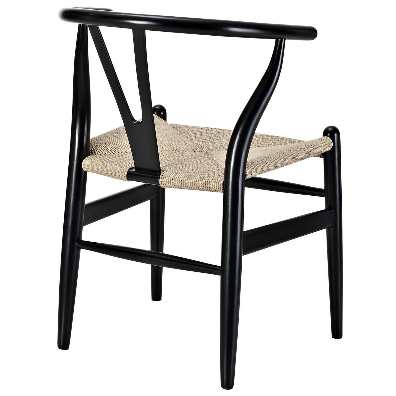 Modway Amish 4PC Dining Armchair Set - Black