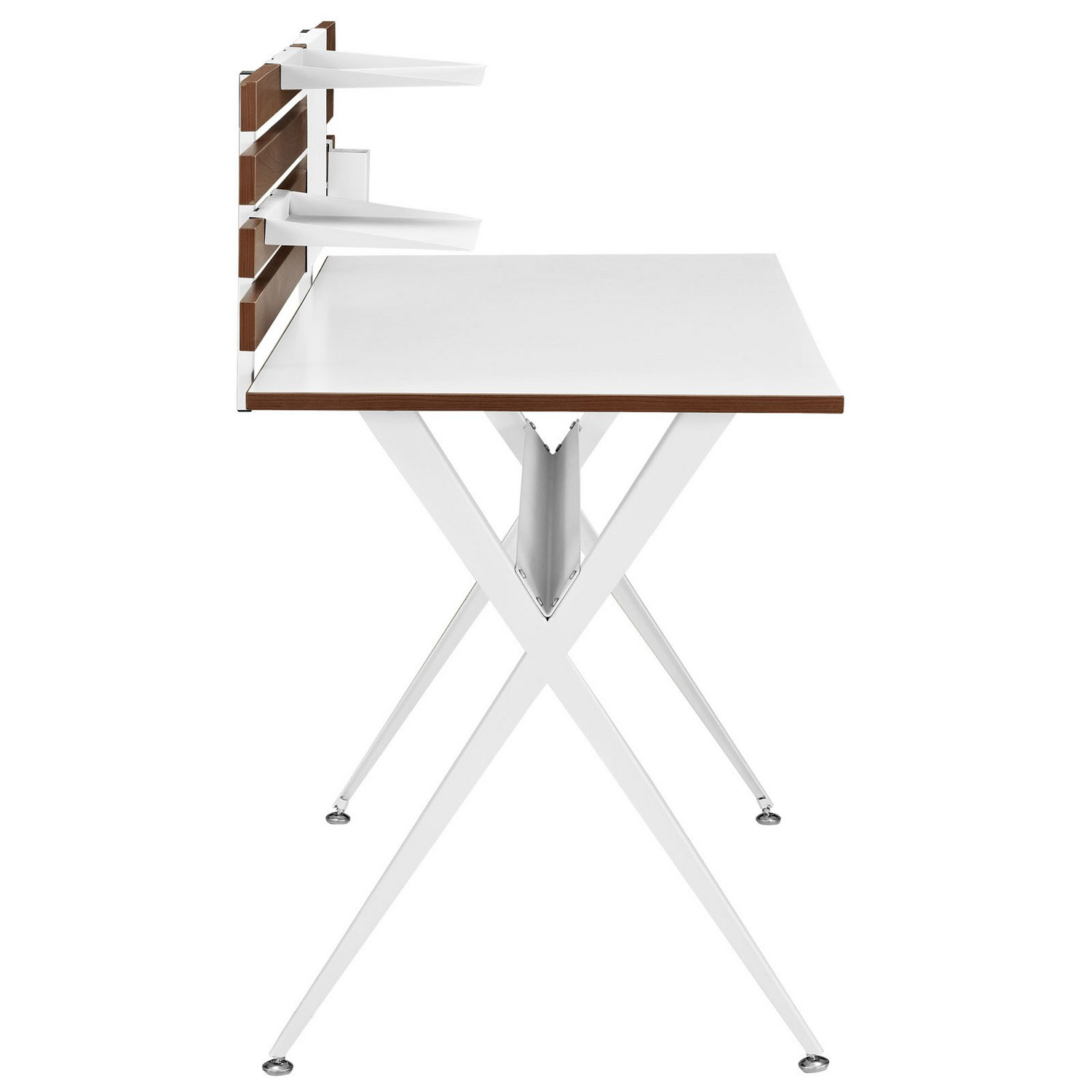 Modway Knack Wood Office Desk - Cherry