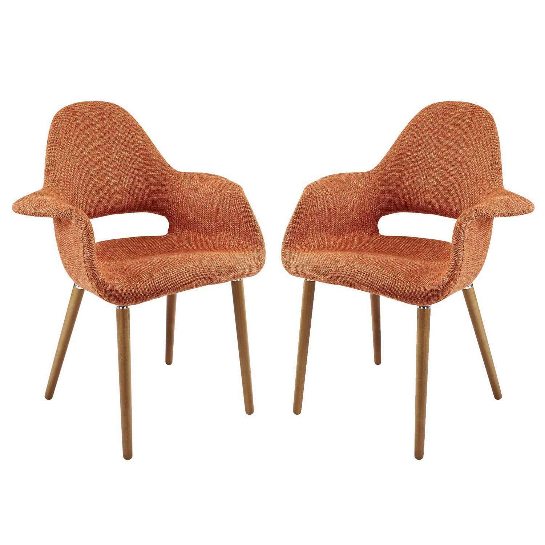 Modway Aegis Dining Armchair Set of 2 - Orange