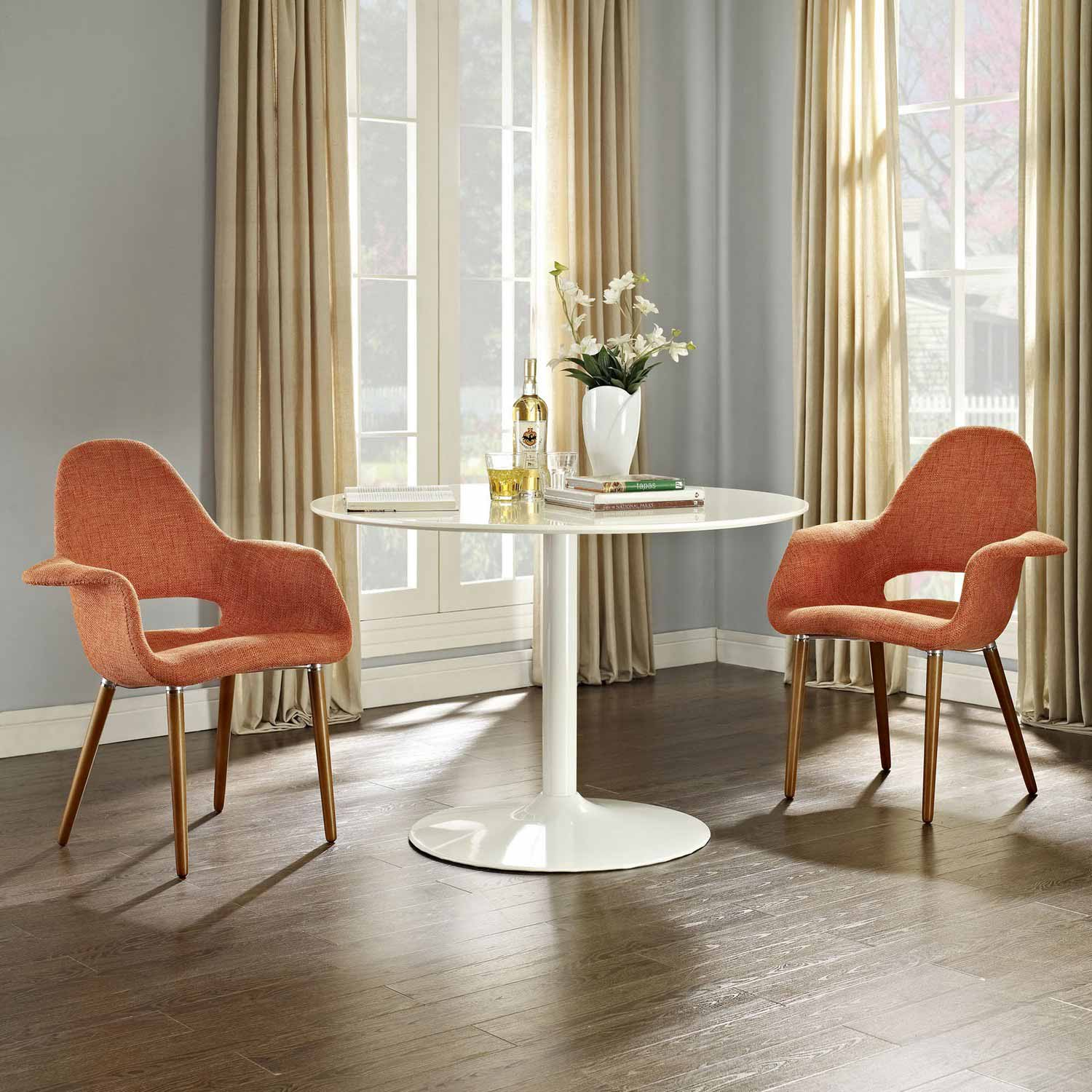 Modway Aegis Dining Armchair Set Of 2 Orange Mw Eei 1329