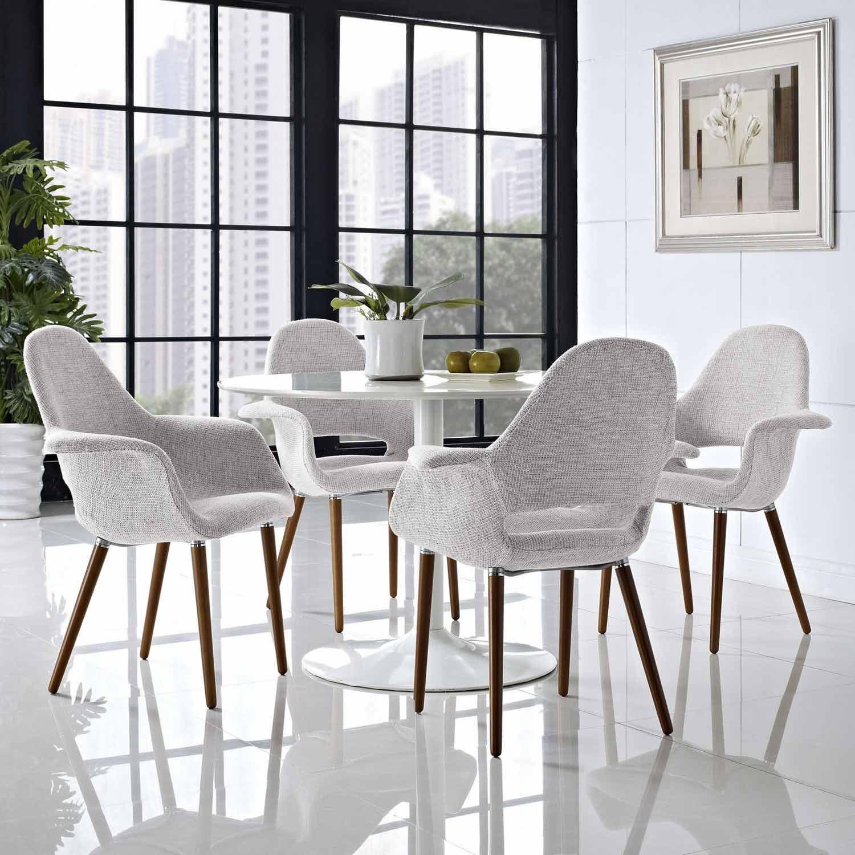 Modway Aegis Dining Armchair Set of 4 - Light Gray