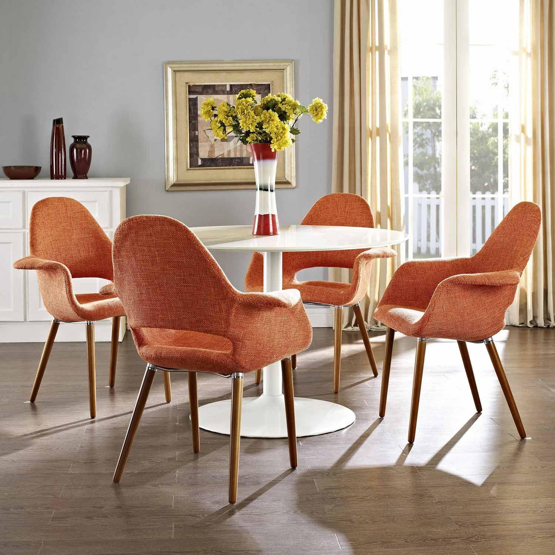 Modway Aegis Dining Armchair Set of 4 - Orange