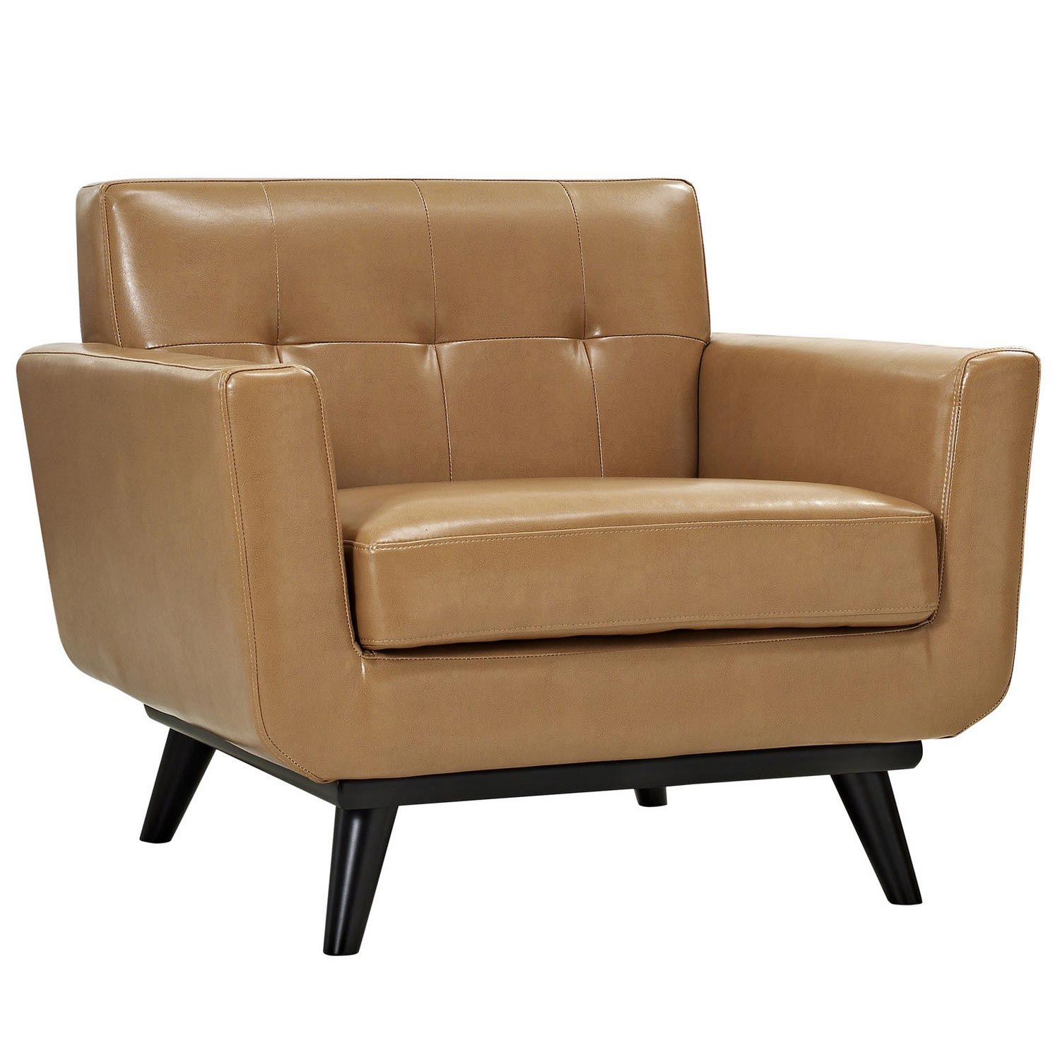 Modway Engage Bonded Leather Armchair - Tan