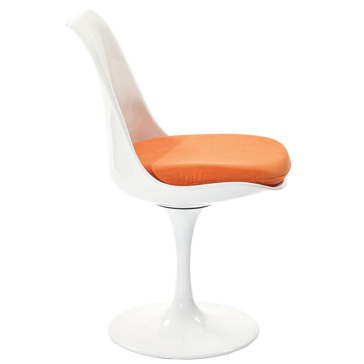 Modway Lippa Dining Side Chair Fabric Set of 4 - Orange