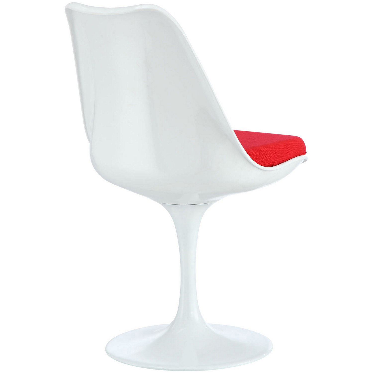 Modway Lippa Dining Side Chair Fabric Set of 4 - Red