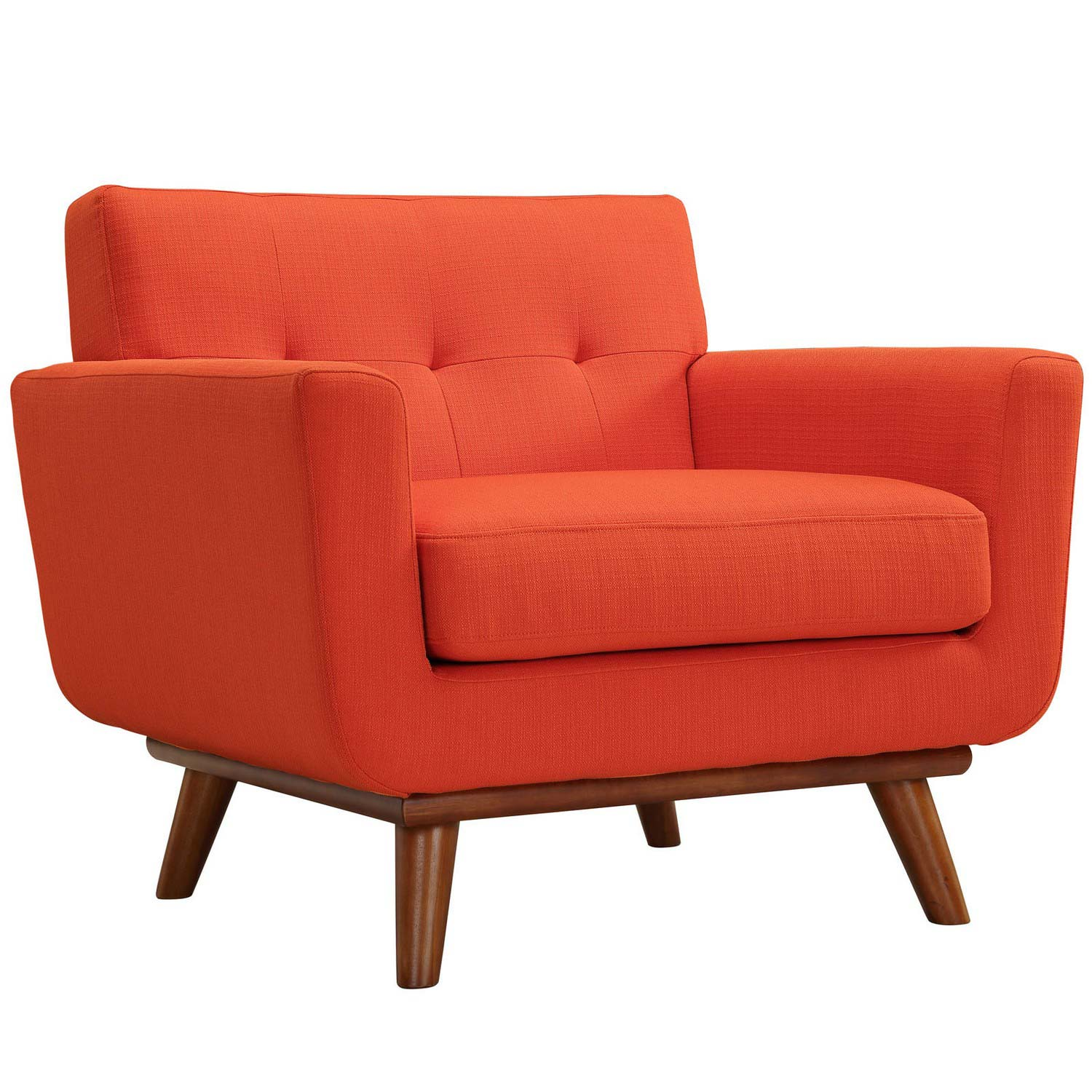 Modway Engage Armchairs and Sofa Set of 3 - Atomic Red