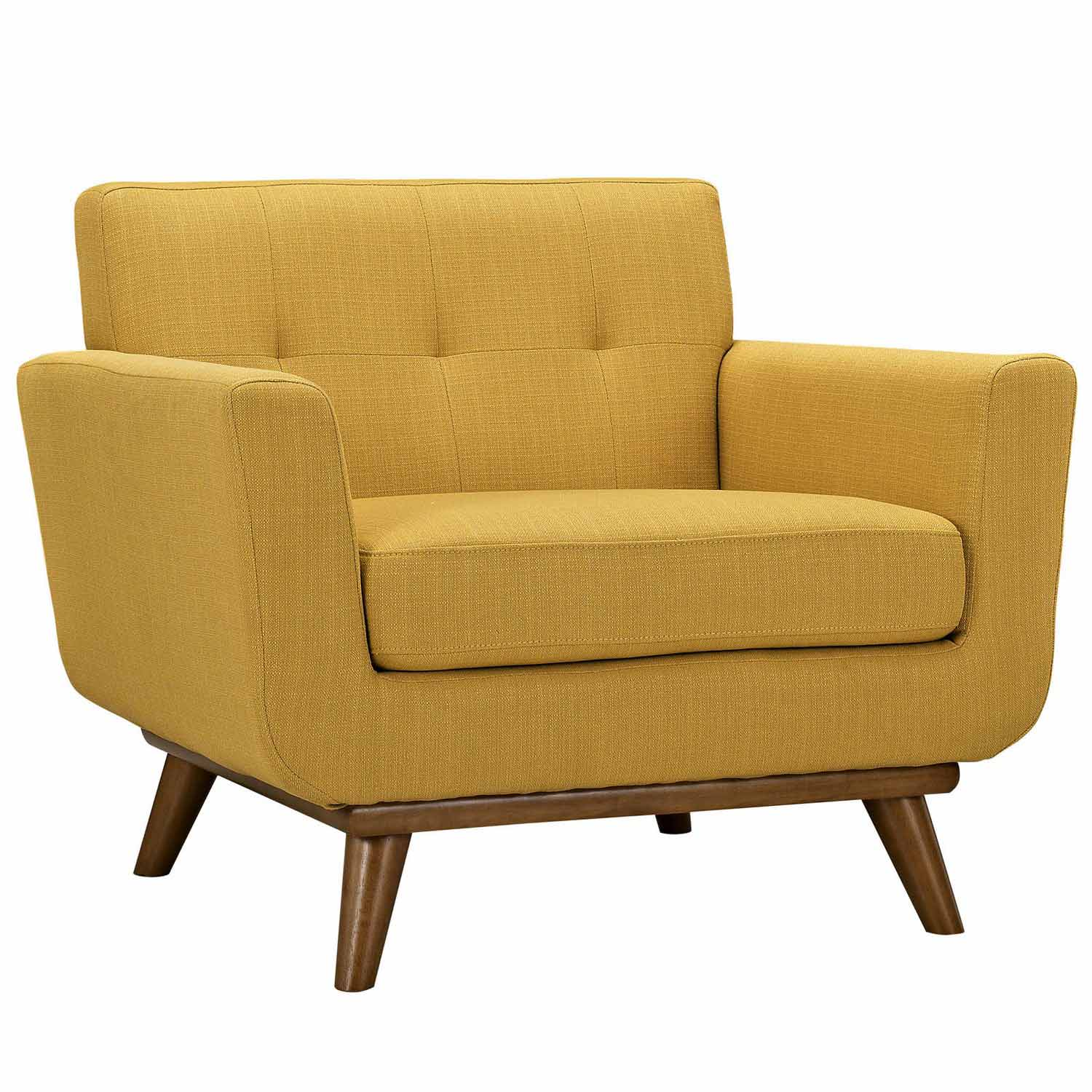 Modway Engage Armchairs and Sofa Set of 3 - Citrus