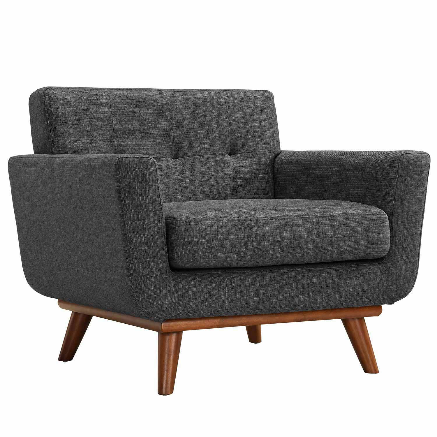 Modway Engage Armchairs and Sofa Set of 3 - Gray
