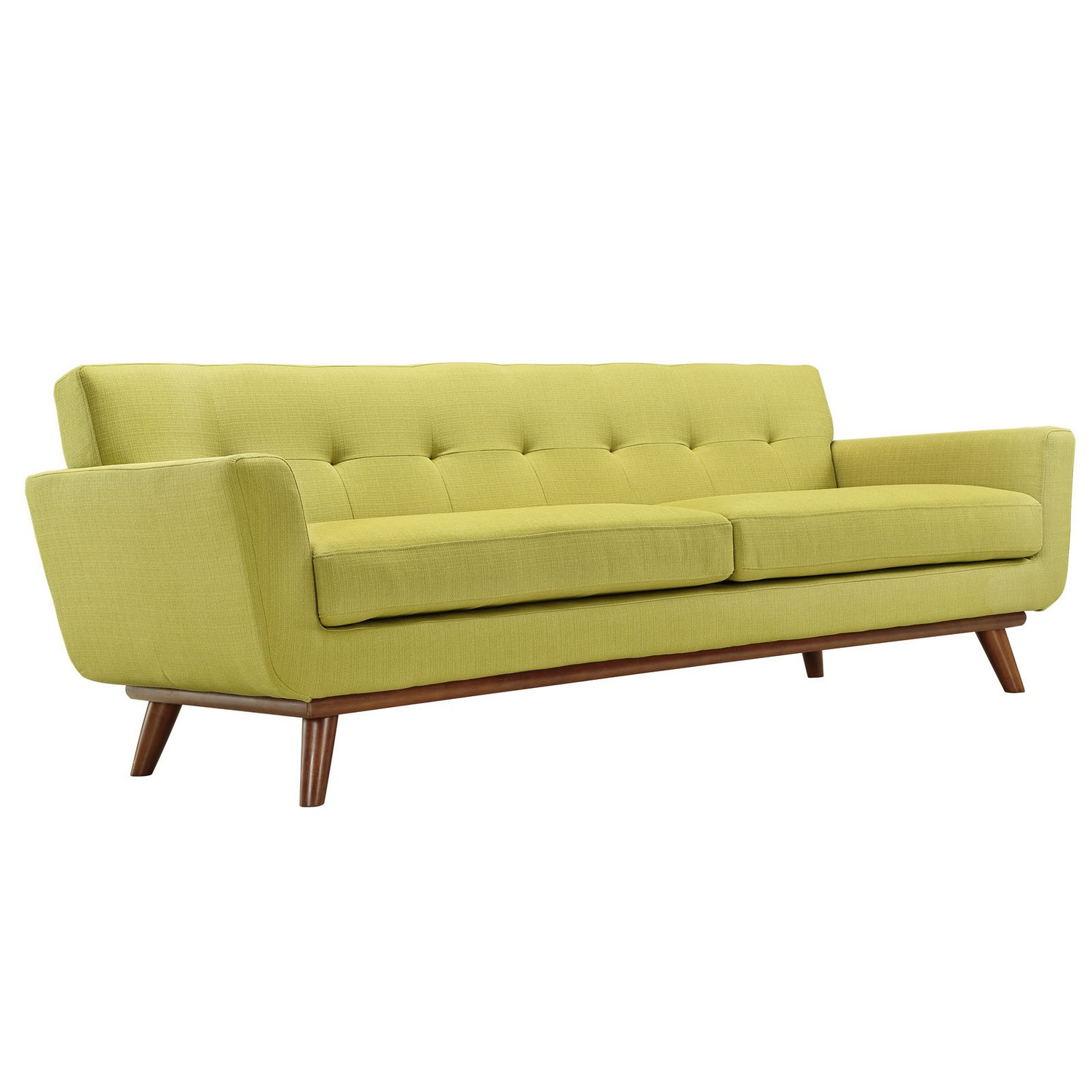 Modway Engage Armchairs and Sofa Set of 3 - Wheatgrass