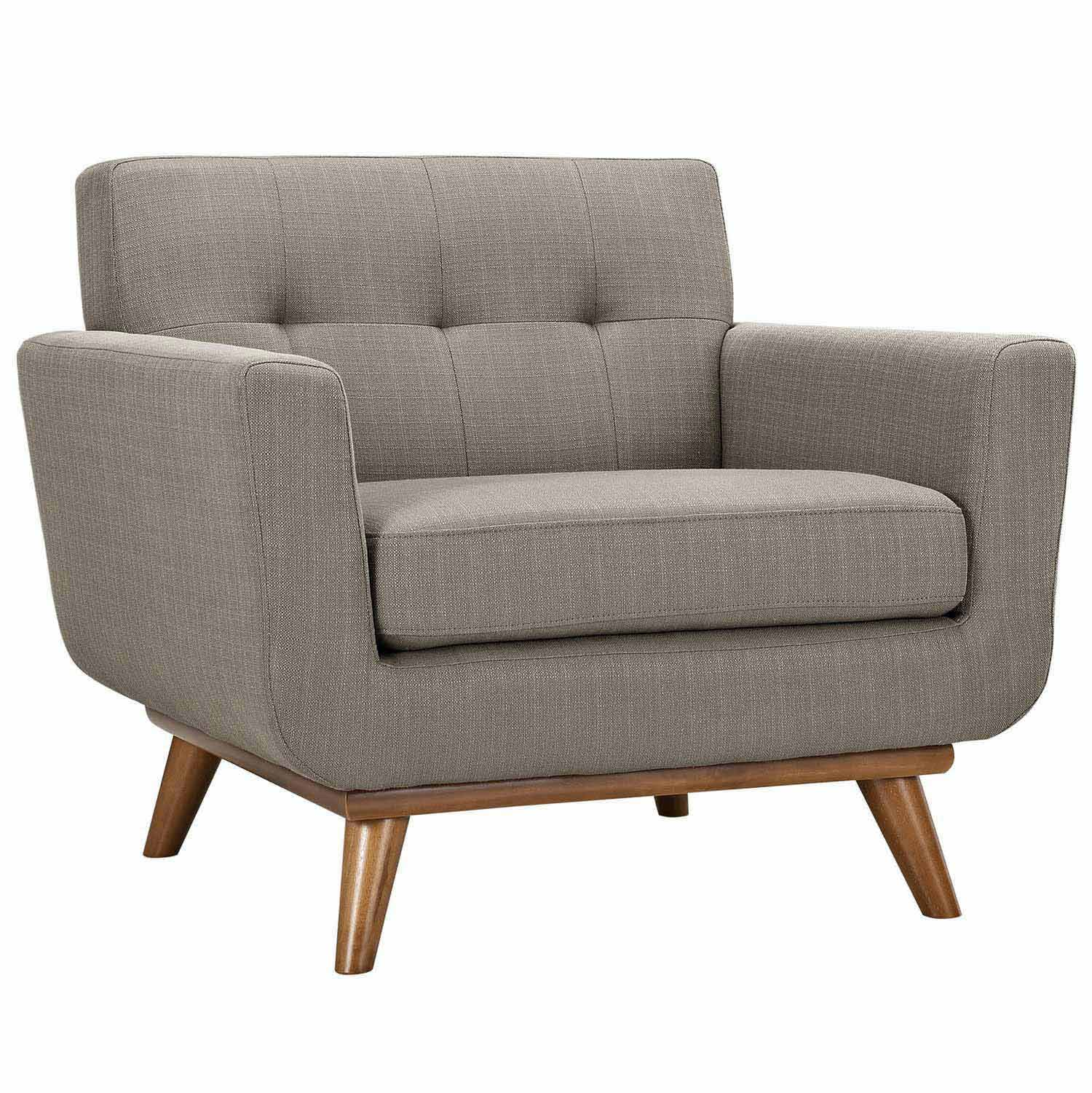 Modway Engage Armchair and Loveseat Set of 2 - Granite