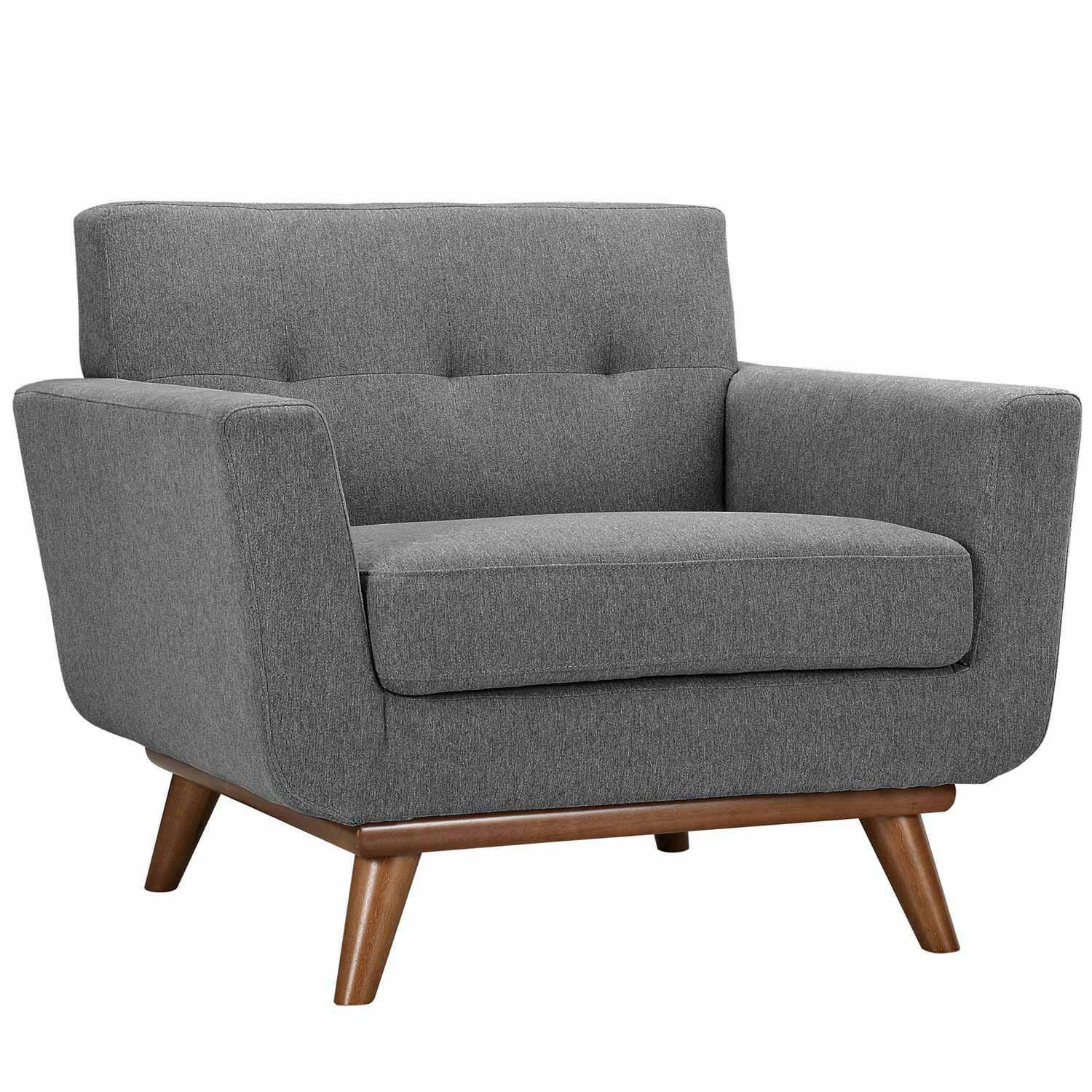 Modway Engage Armchair and Loveseat Set of 2 - Gray