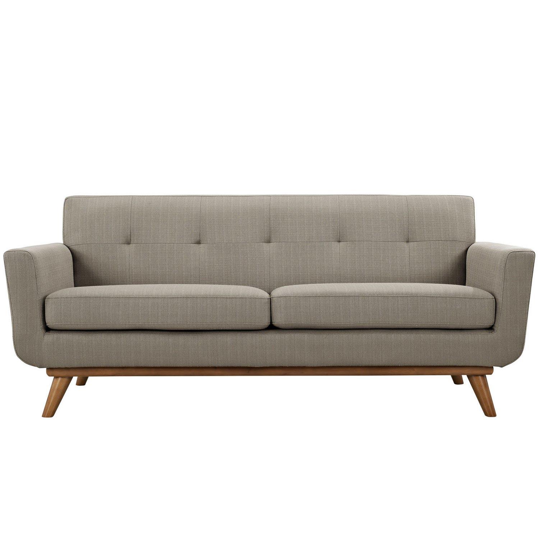 Modway Engage Loveseat and Sofa Set of 2 - Granite