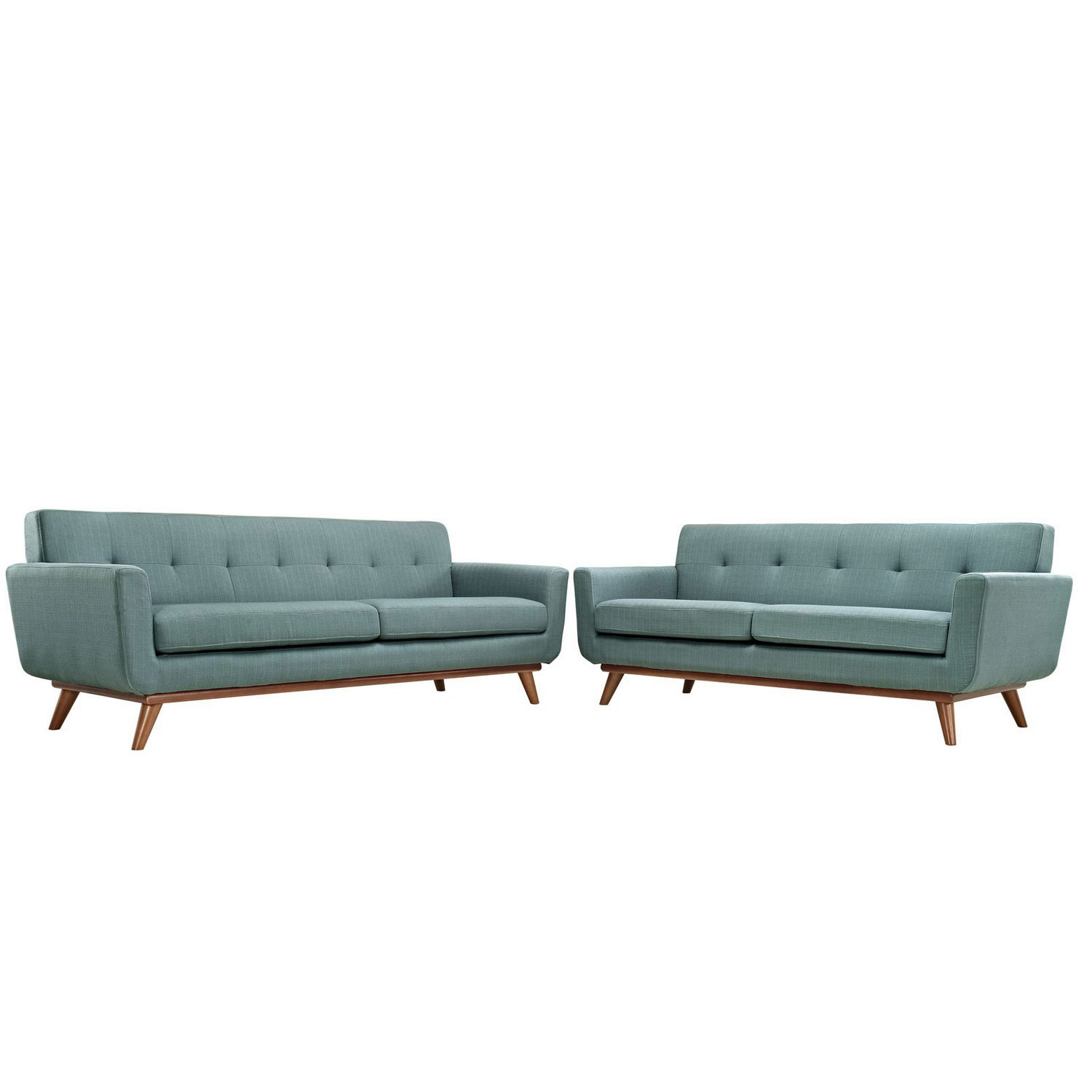 Modway Engage Loveseat and Sofa Set of 2 - Laguna
