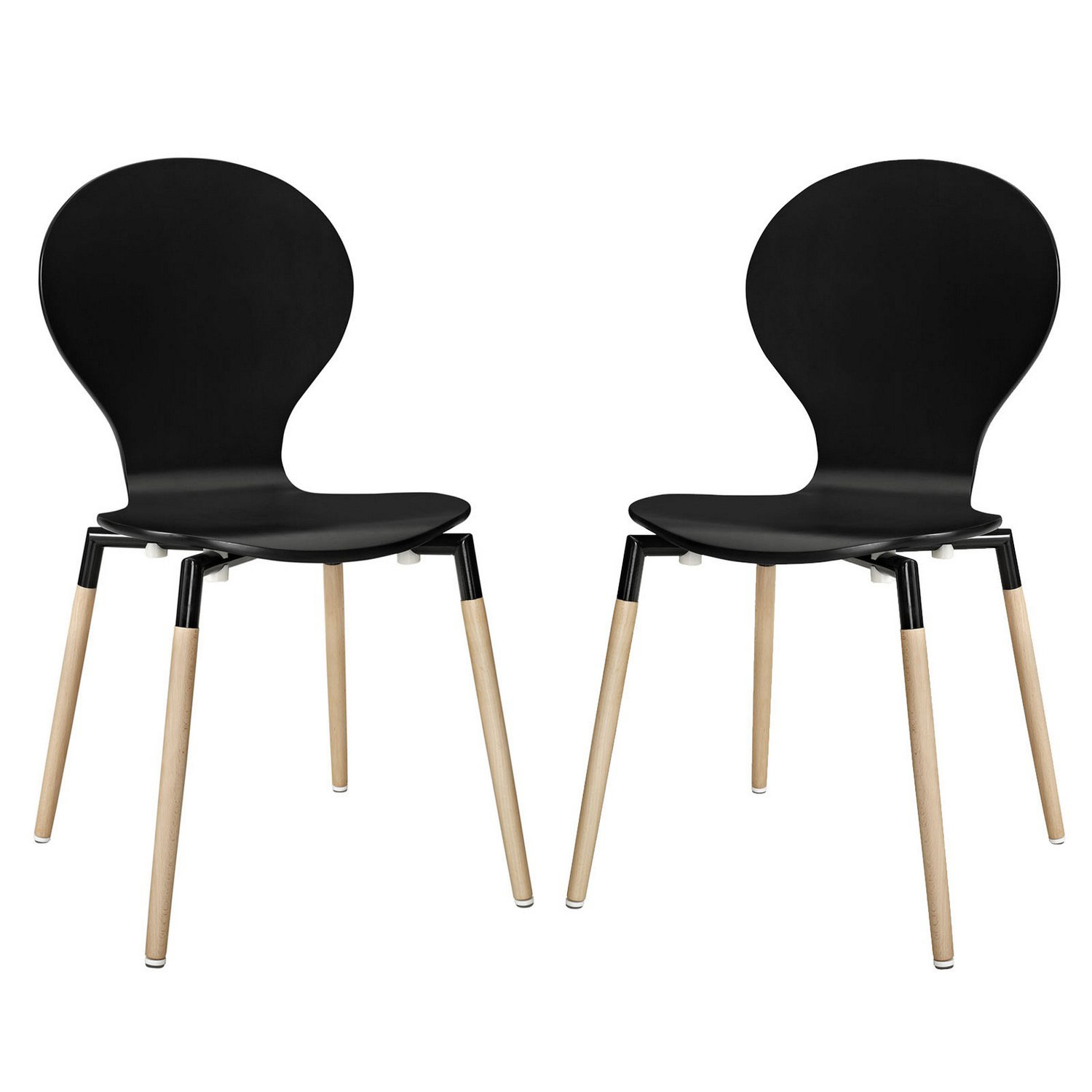 Modway Path Dining Chair Set of 2 - Black