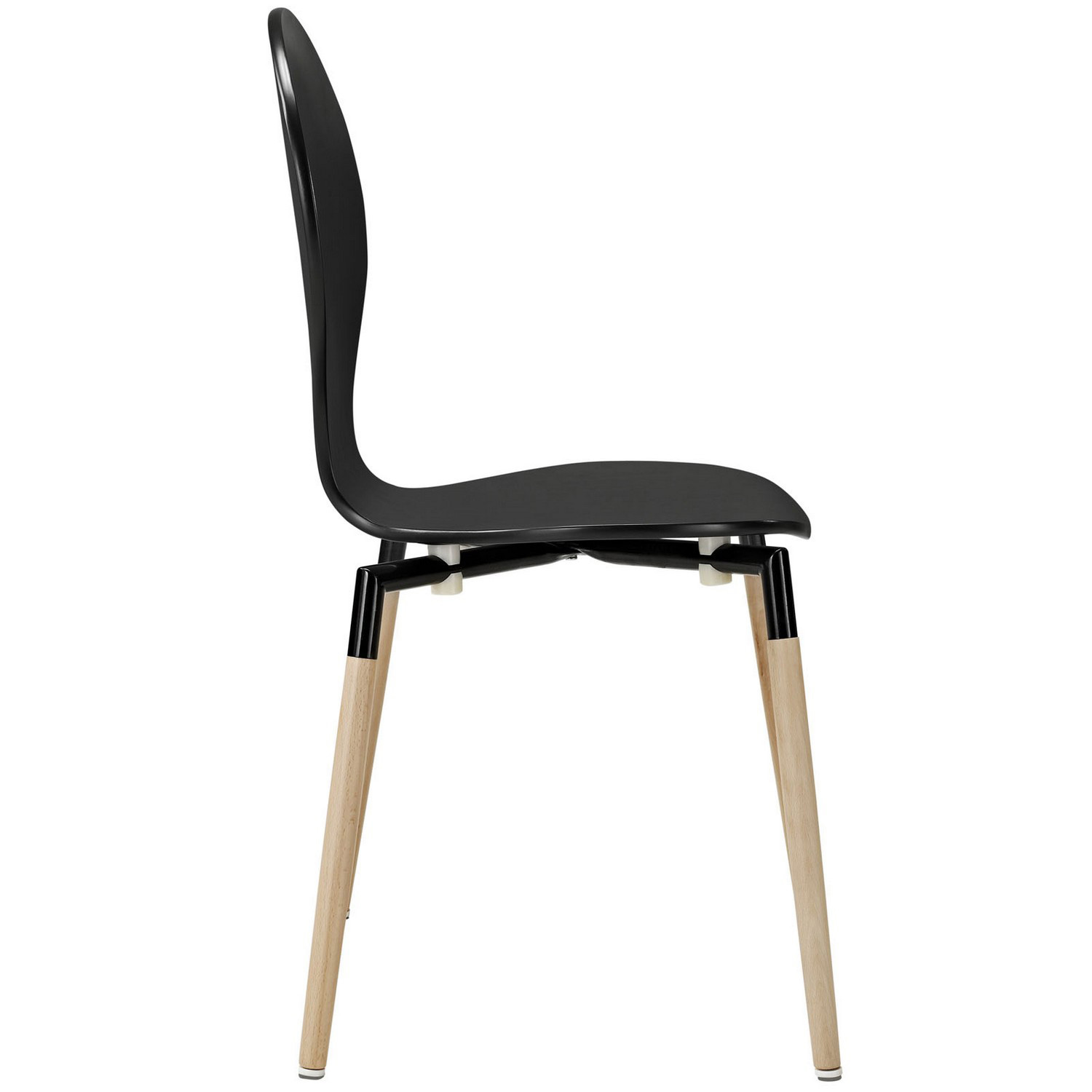 Modway Path Dining Chair Set of 4 - Black