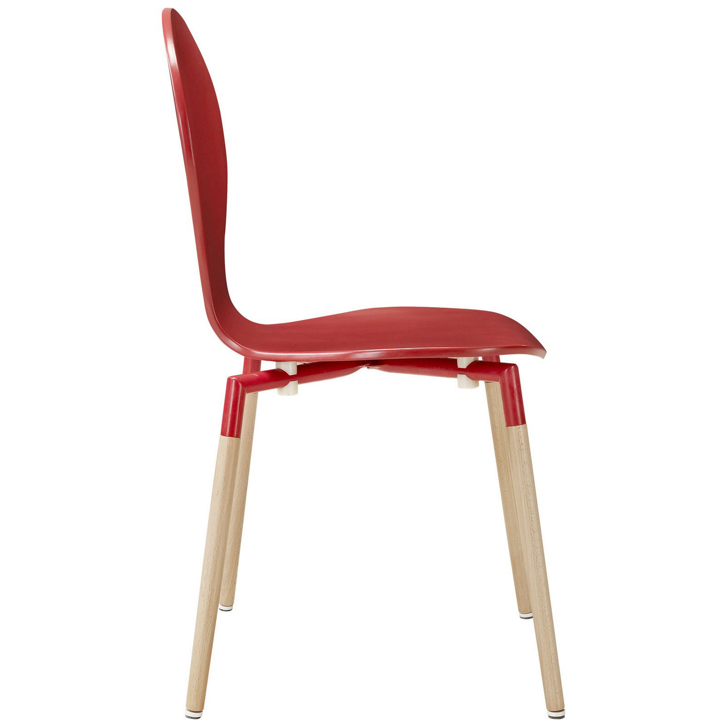 Modway Path Dining Chair Set of 4 - Red