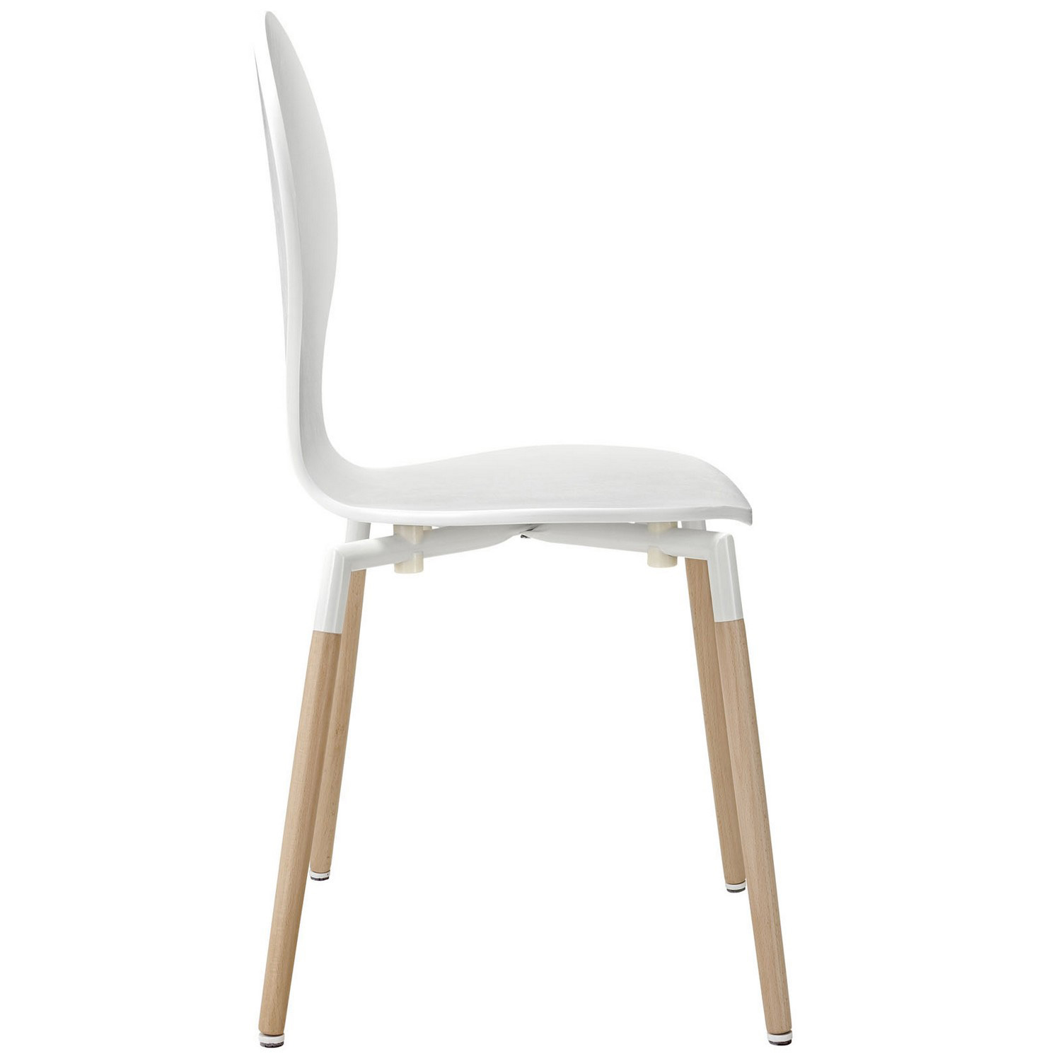 Modway Path Dining Chair Set of 4 - White