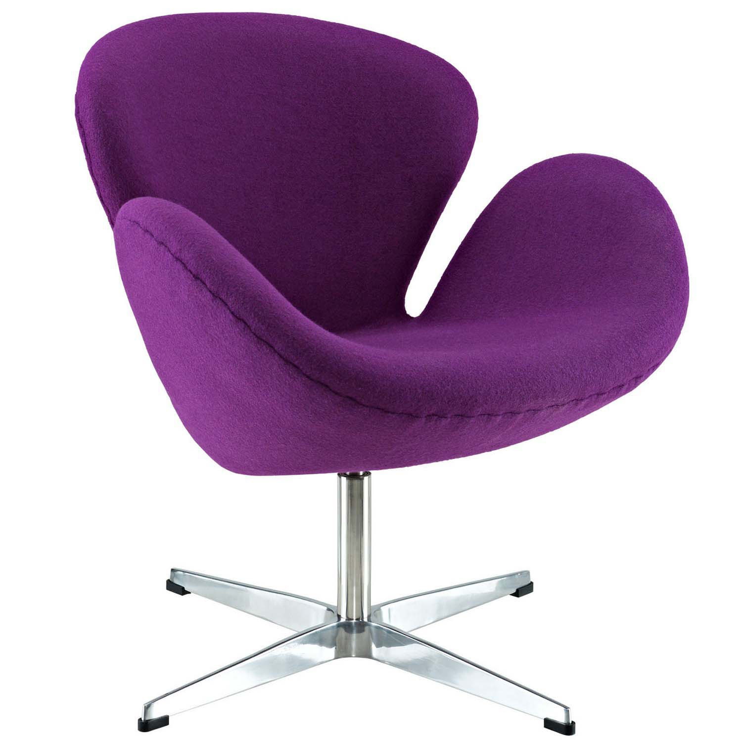 Modway Wing Lounge Chair - Purple
