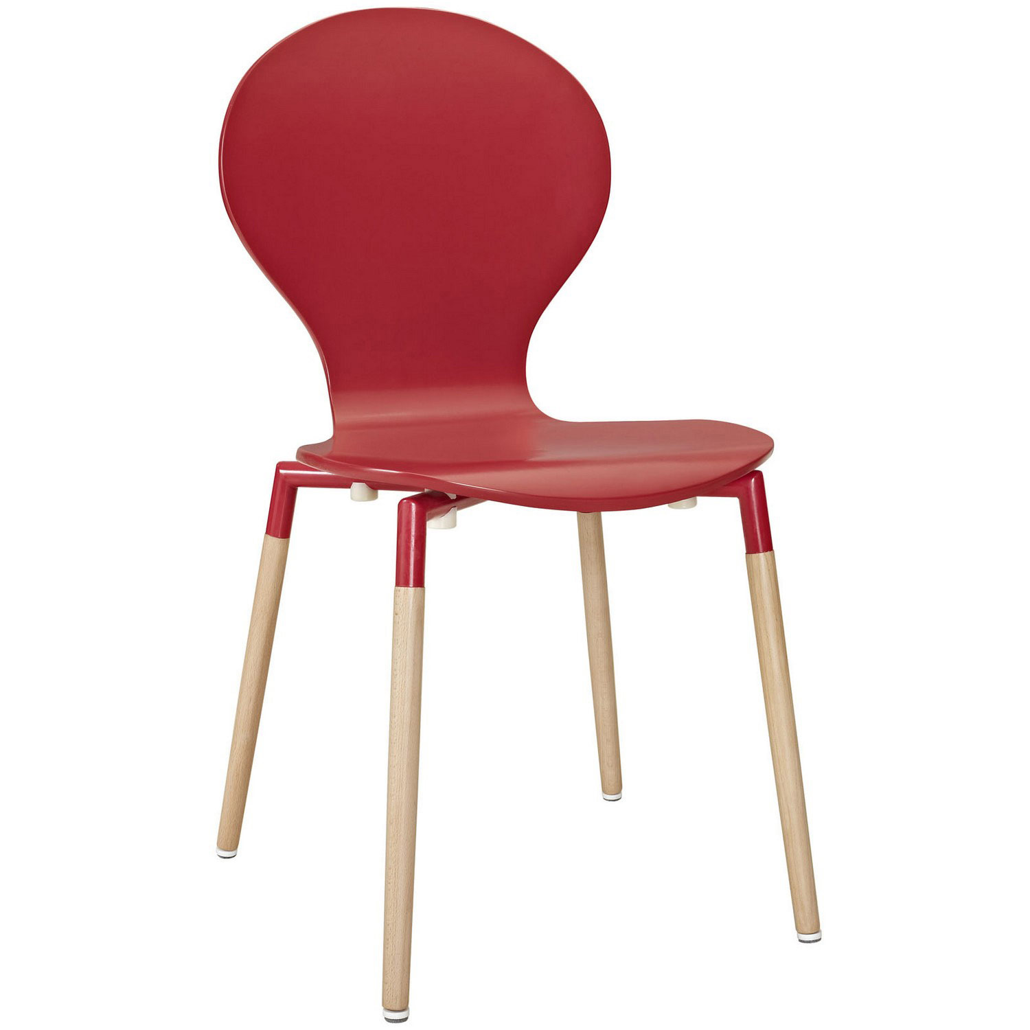 Modway Path 5Pc Dining Chairs and Table Set - Red