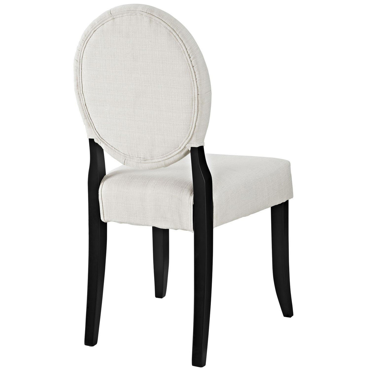 Modway Button Dining Side Chair - Beige