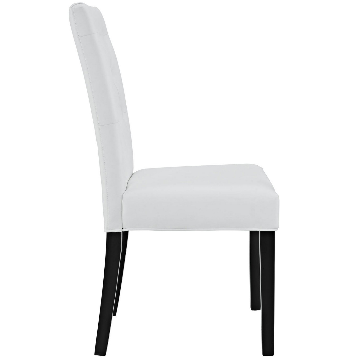 Modway Confer Dining Vinyl Side Chair - White