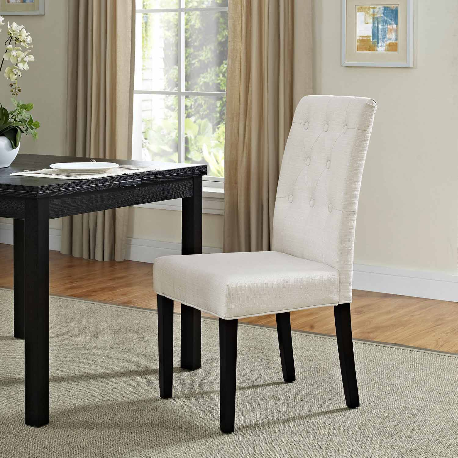 Modway Confer Dining Fabric Side Chair - Beige