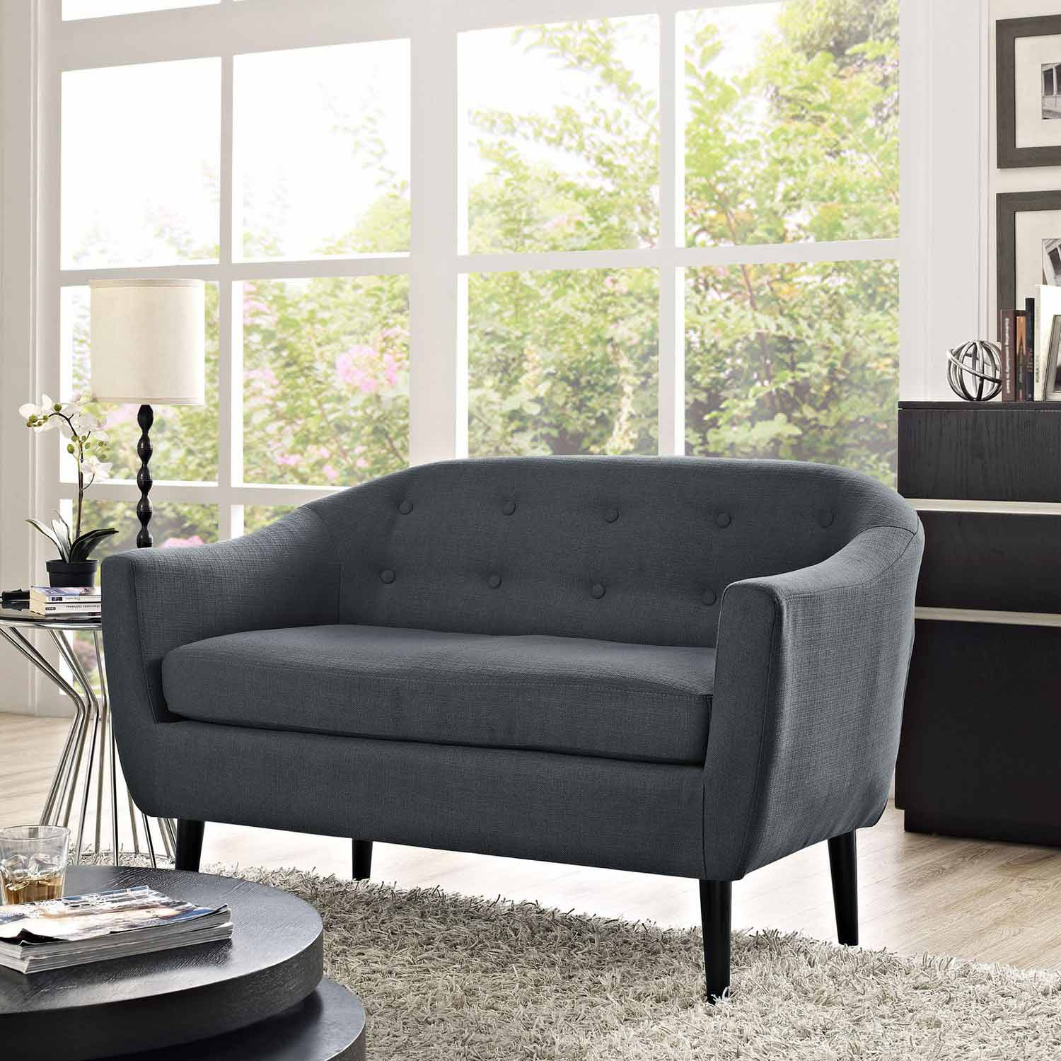 Modway Wit Loveseat - Gray
