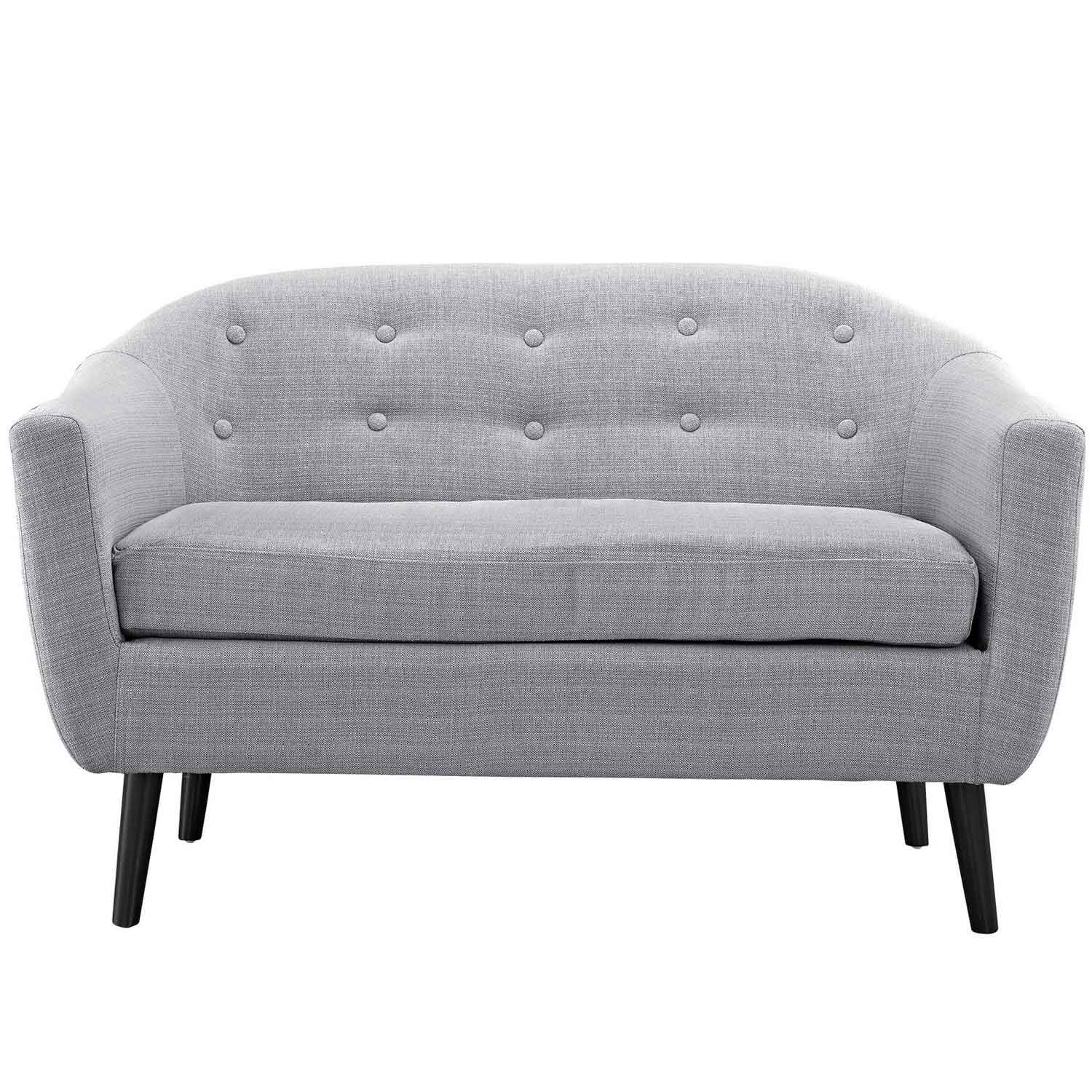 Modway Wit Loveseat - Light Gray