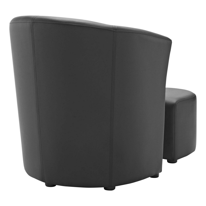 Modway Divulge Armchair and Ottoman - Black