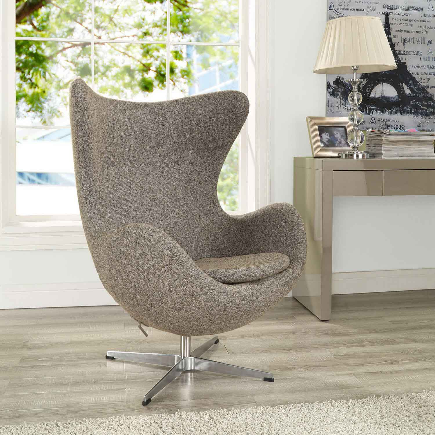 Modway Glove Wool Lounge Chair - Oatmeal