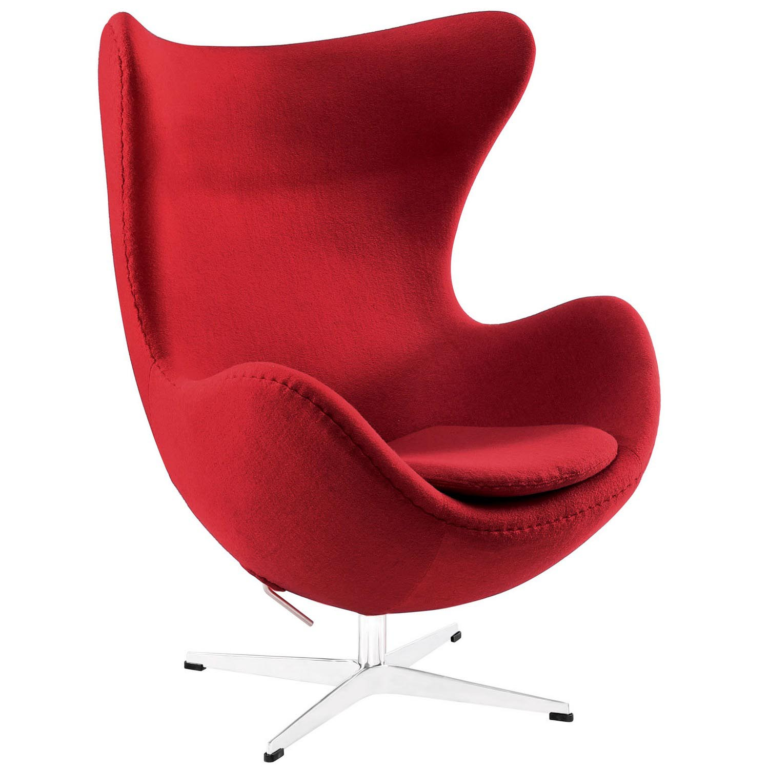 Modway Glove Wool Lounge Chair - Red