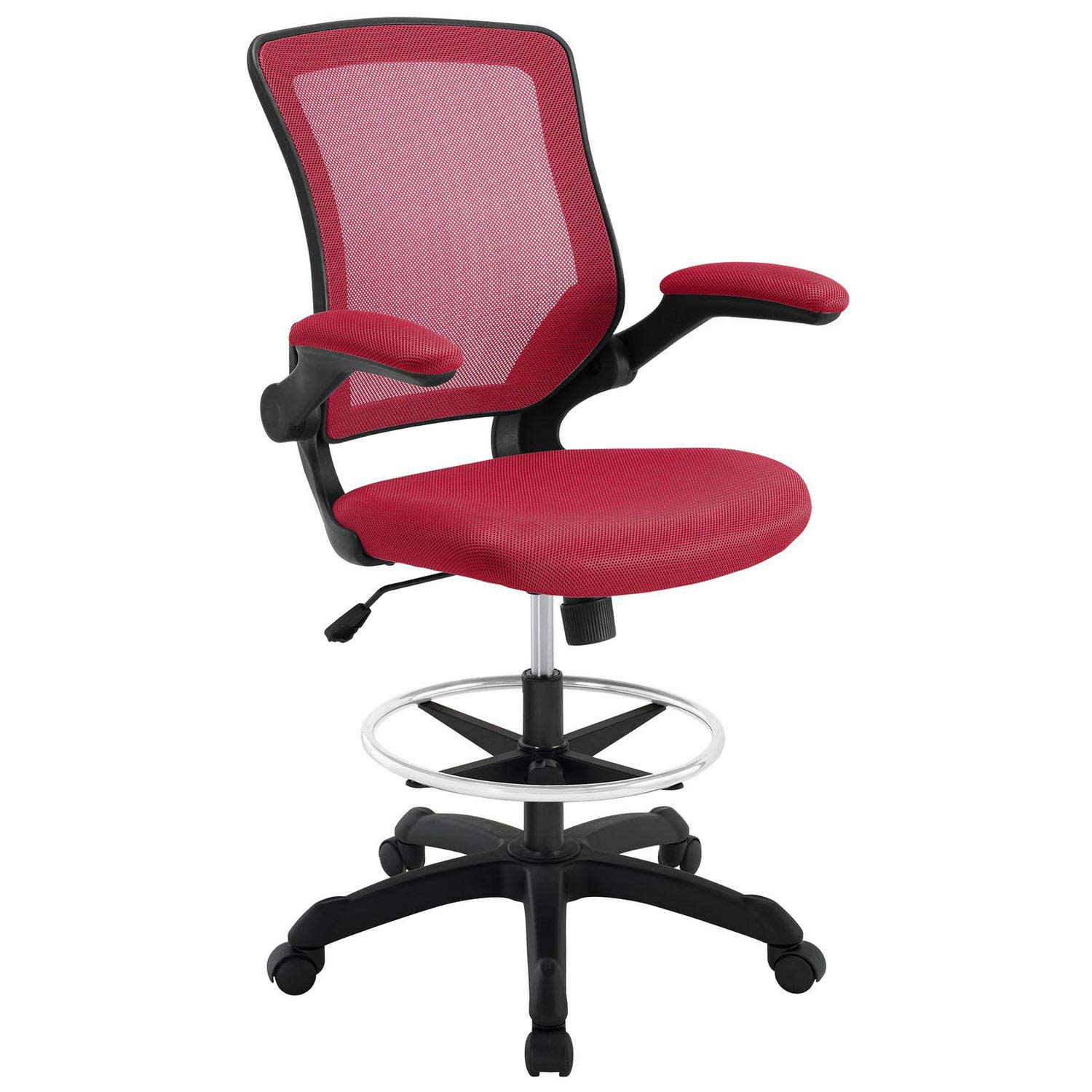 Modway Veer Drafting Stool - Red