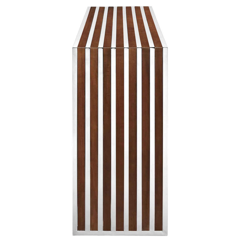 Modway Gridiron Wood Inlay Console Table - Walnut