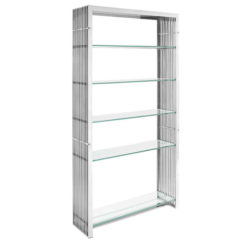 Modway Gridiron Stainless Steel Bookshelf - Silver