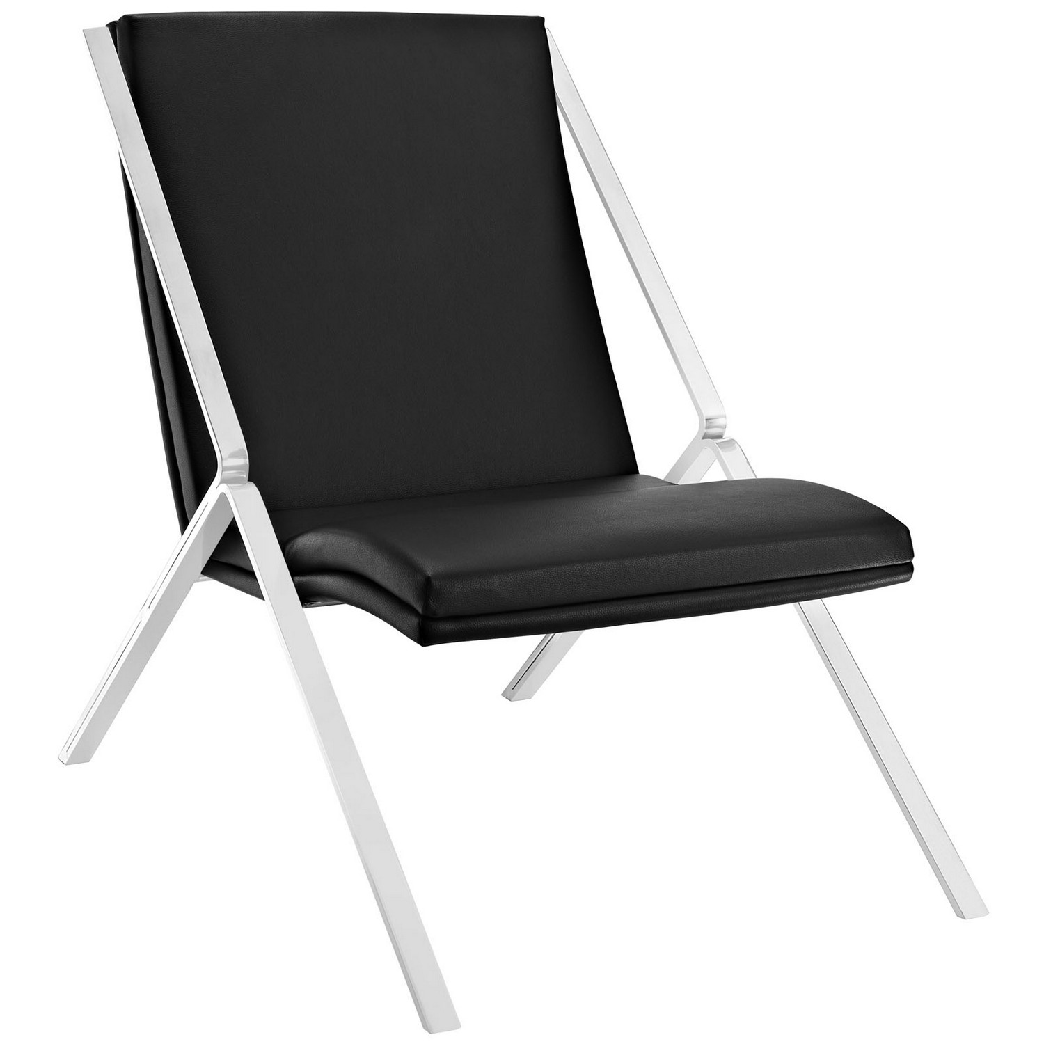 Modway Swing Vinyl Lounge Chair - Black
