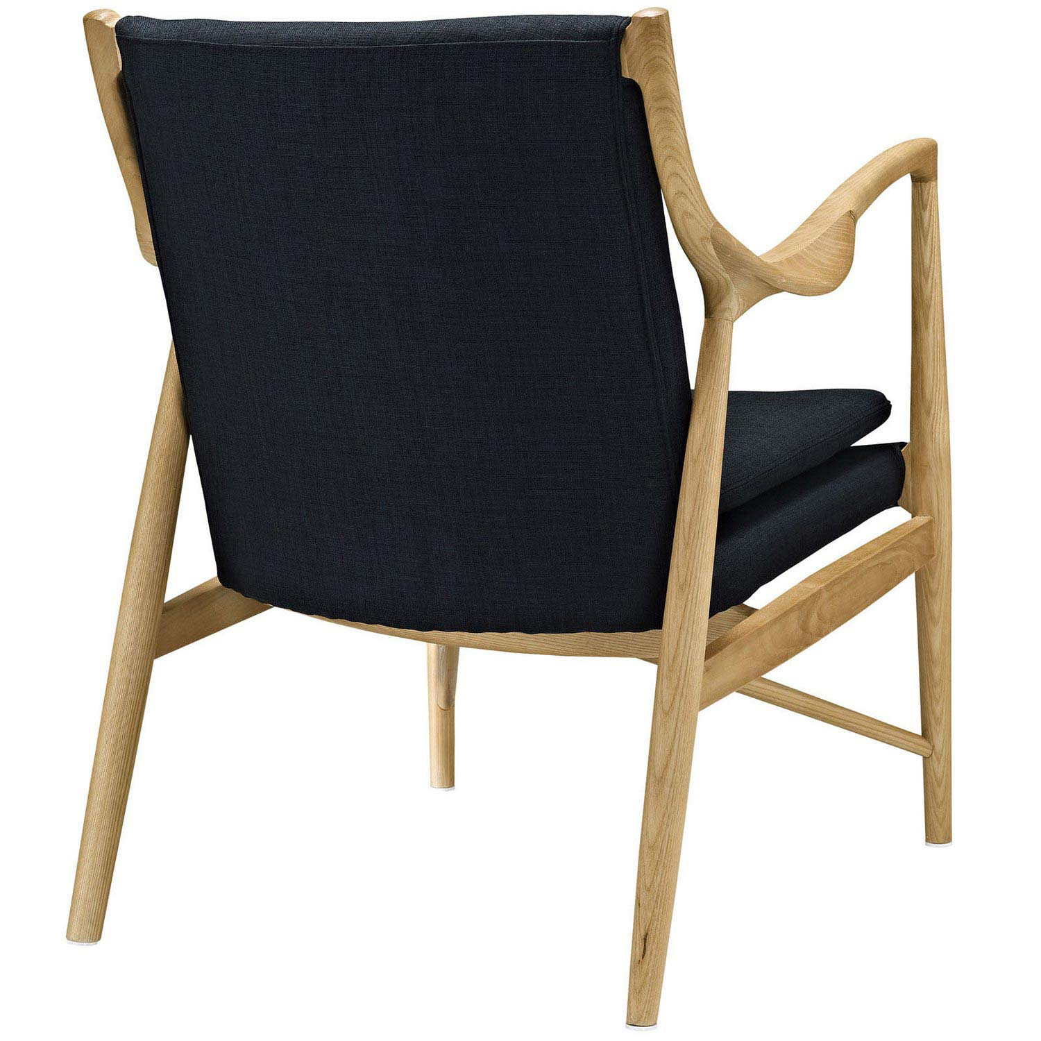 Modway Makeshift Upholstered Lounge Chair - Birch Black