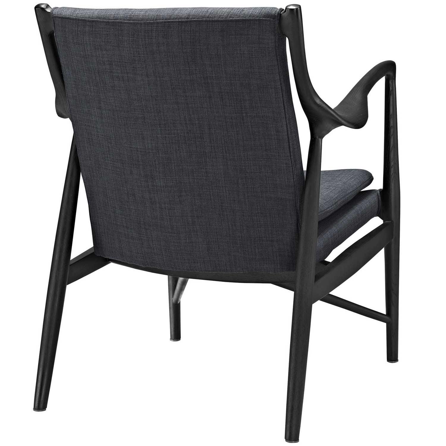 Modway Makeshift Upholstered Lounge Chair - Black/Gray