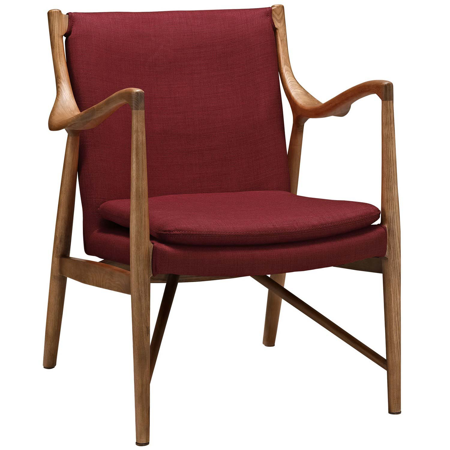 Modway Makeshift Upholstered Lounge Chair - Maple Red
