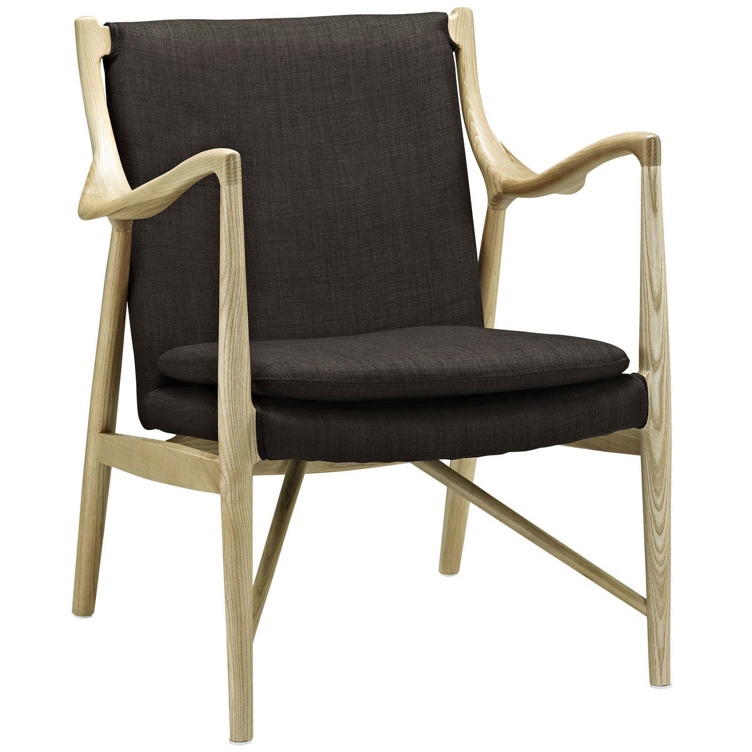 Modway Makeshift Upholstered Lounge Chair - Natural Brown