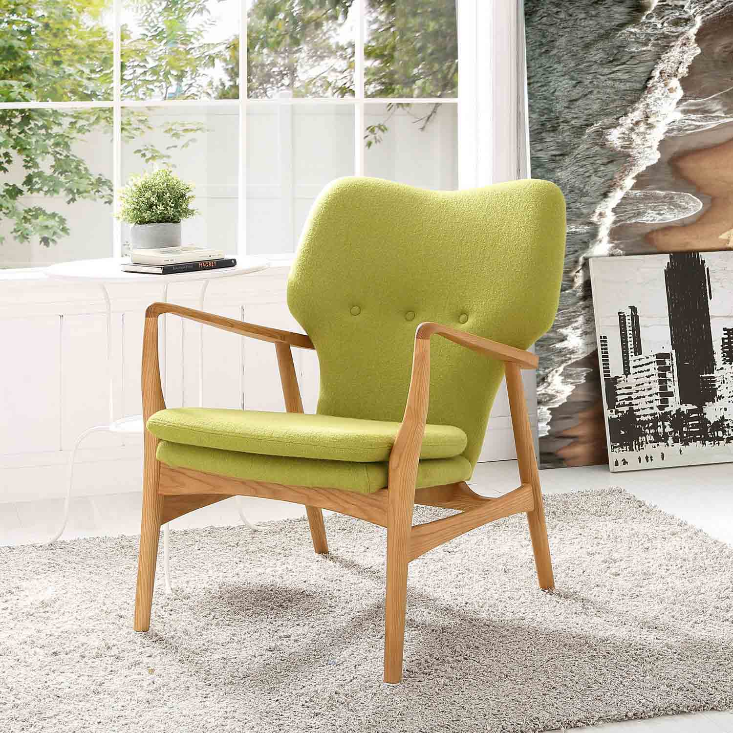 Modway Heed Lounge Chair - Birch Green