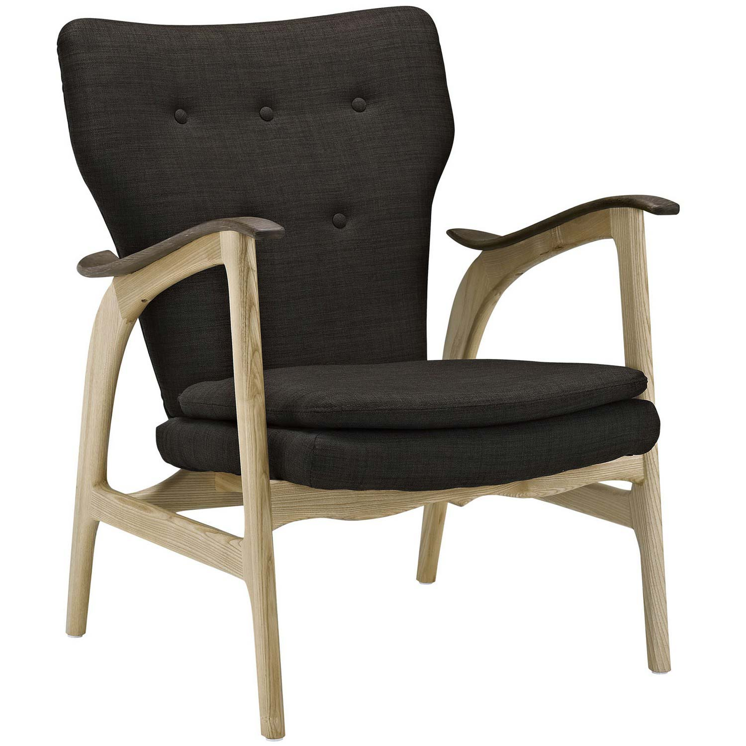 Modway Counsel Lounge Chair - Natural Brown