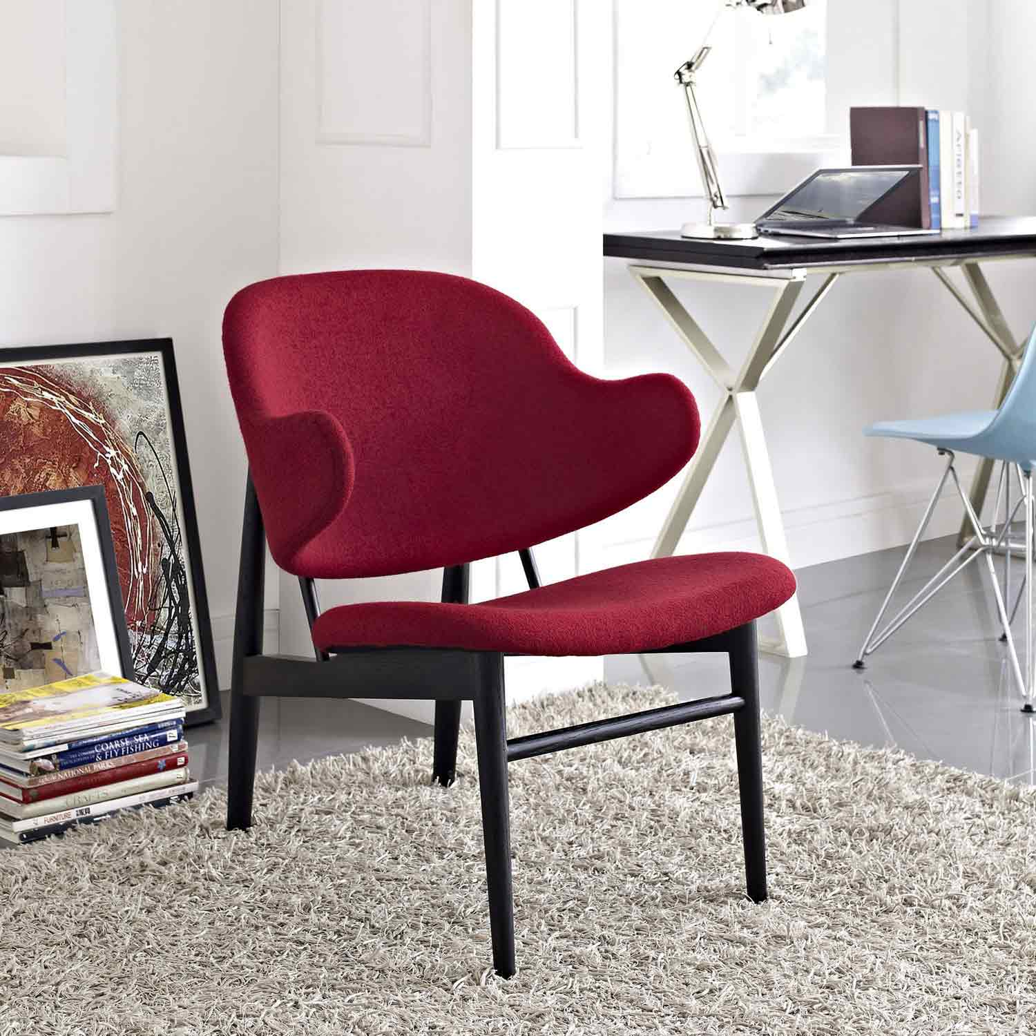 Modway Suffuse Lounge Chair - Black/Red