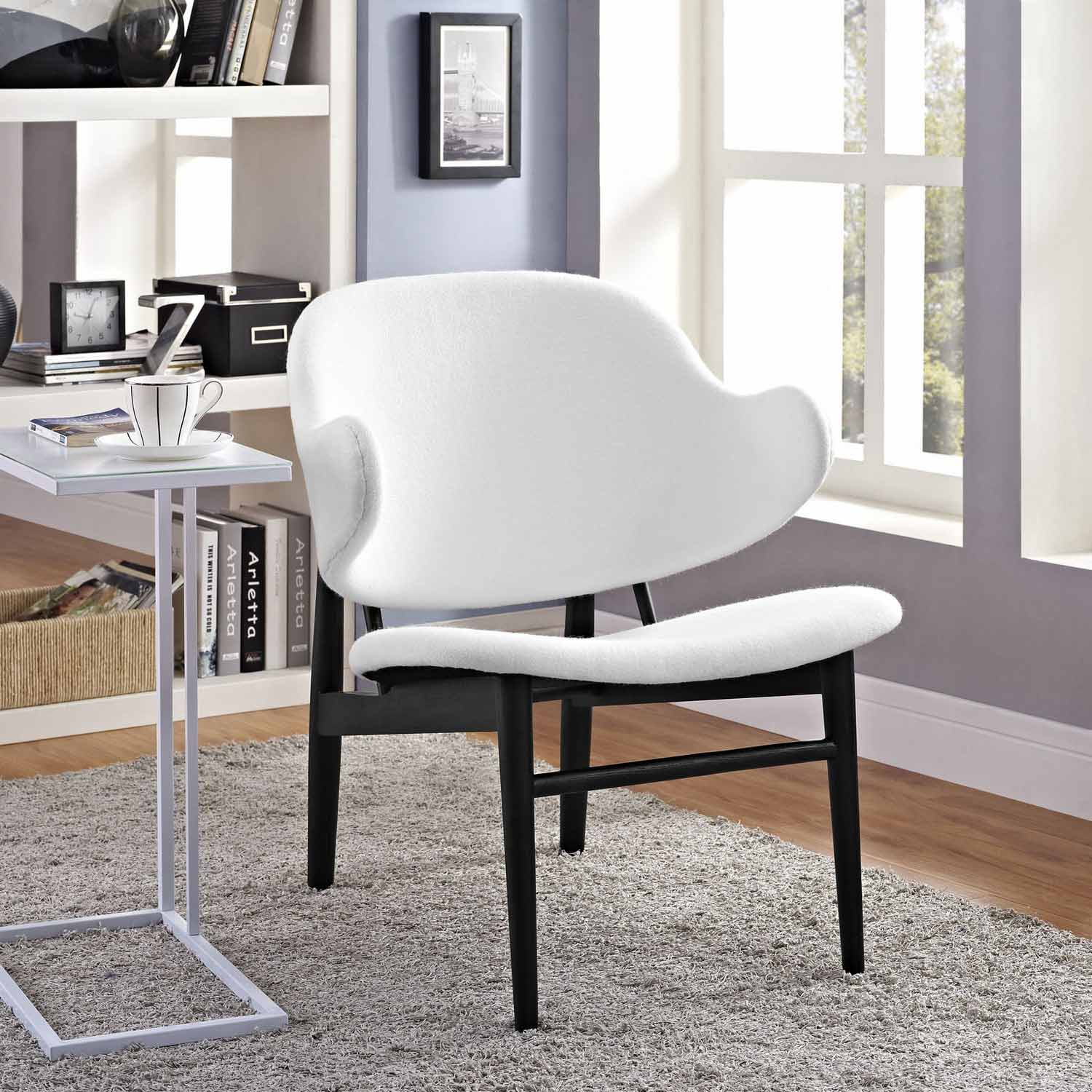 Modway Suffuse Lounge Chair - Black/White