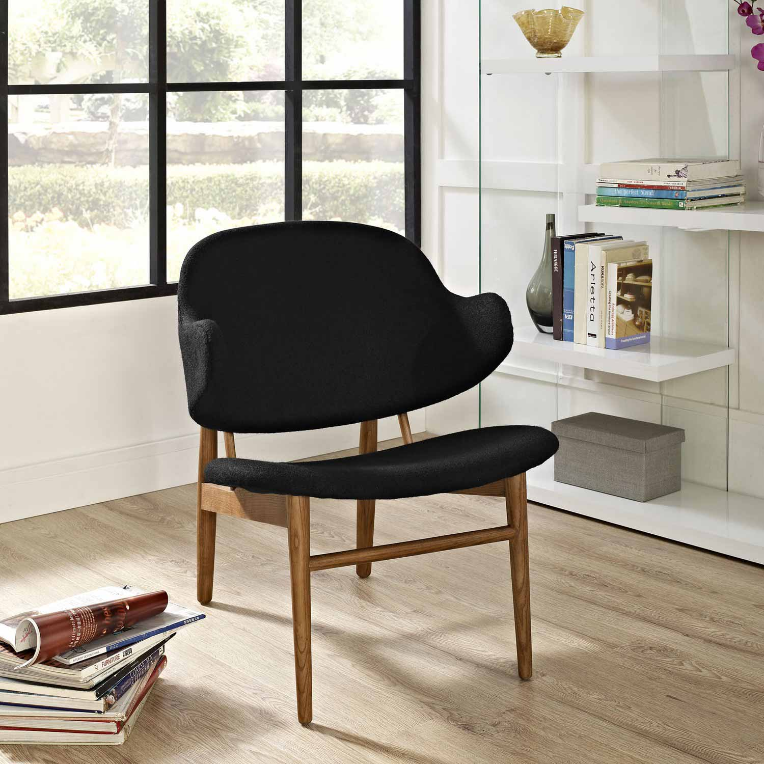 Modway Suffuse Lounge Chair - Maple Black