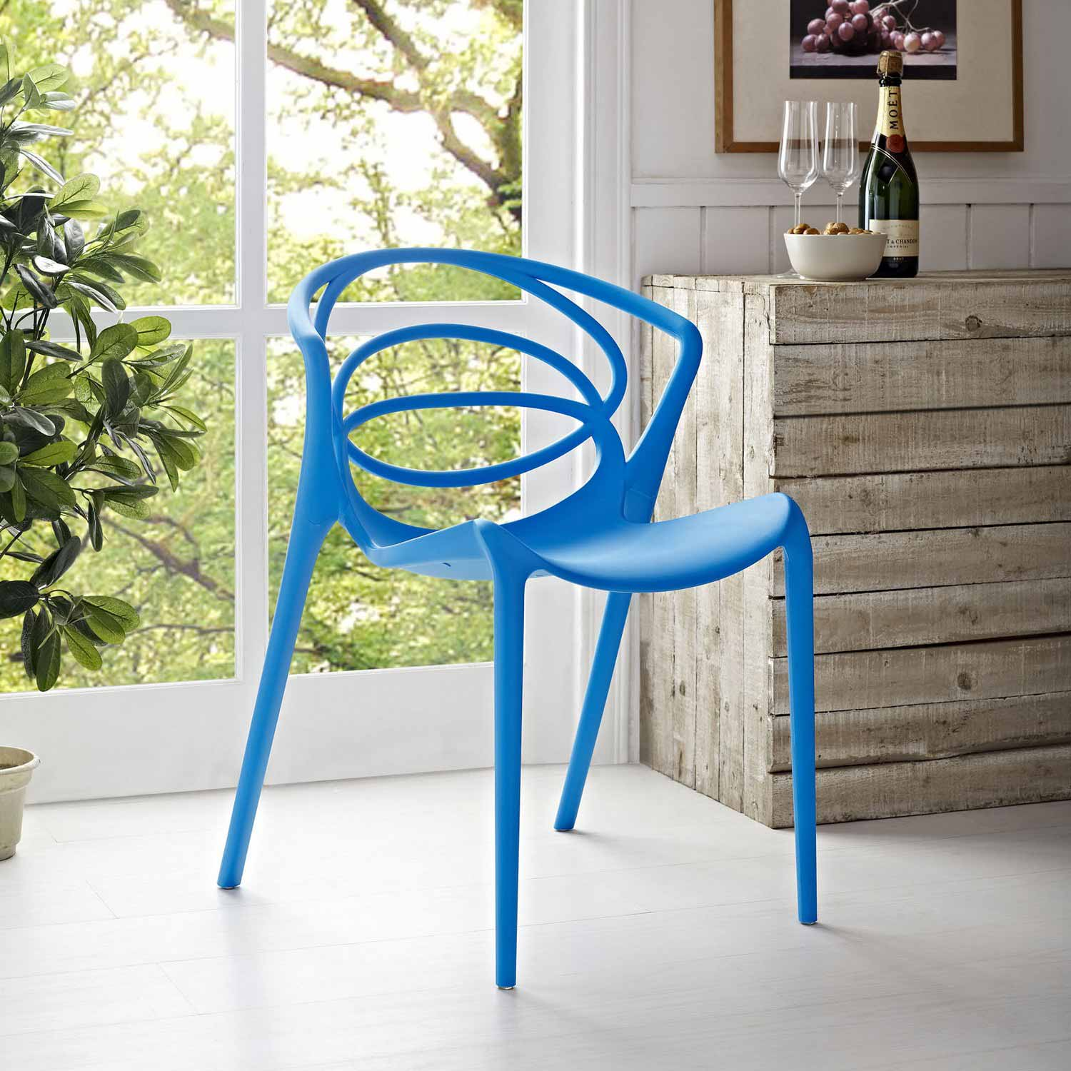 Modway Locus Dining Side Chair - Blue