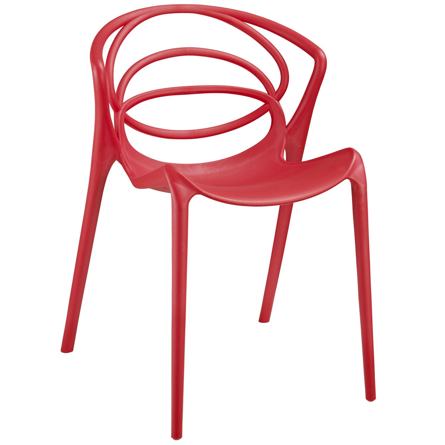 Modway Locus Dining Side Chair - Red