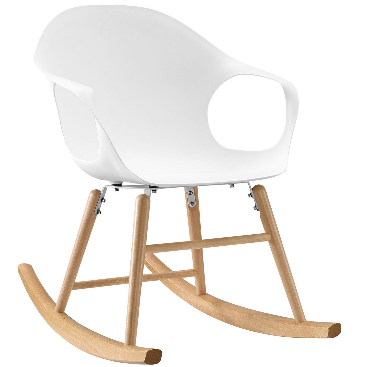 Modway Swerve Rocking Chair - White