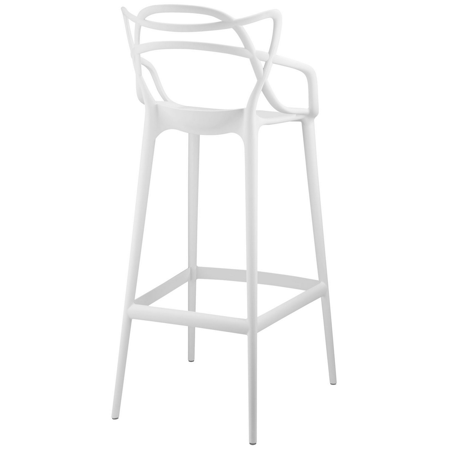 Modway Entangled Bar Stool - White