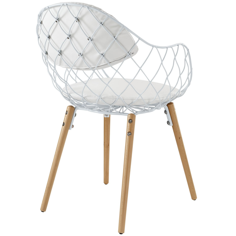 Modway Basket Dining Metal Armchair - White