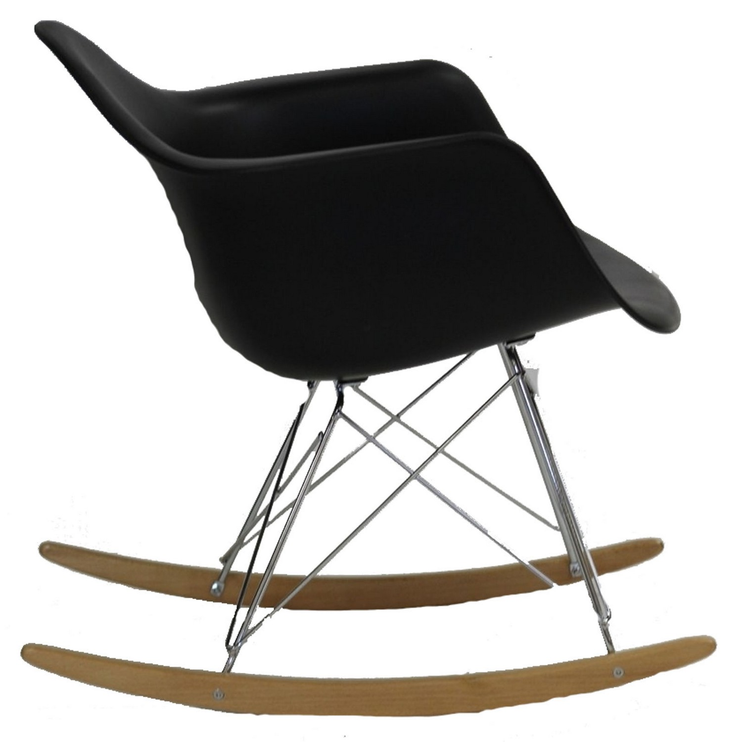 Modway Rocker Lounge Chair - Black